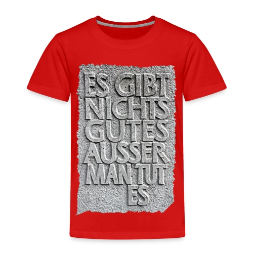 Kluger spruch Geschenkidee - Kinder Premium T-Shirt