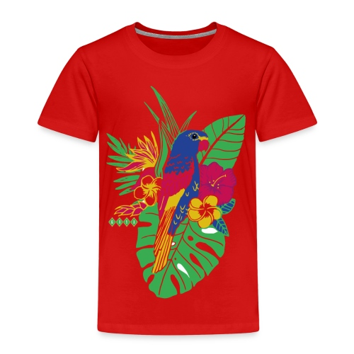 gaya flower parrot - Kinder Premium T-Shirt