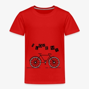 i love my bike - Kinder Premium T-Shirt