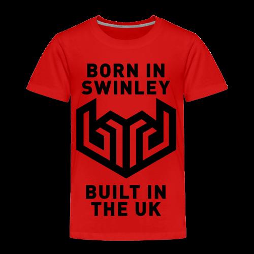 bird logo born in swinley - Kids' Premium T-Shirt
