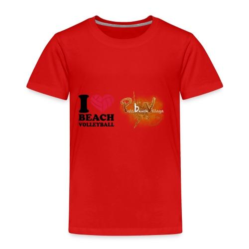 I Love BeachVolley PalaBeach - Maglietta Premium per bambini