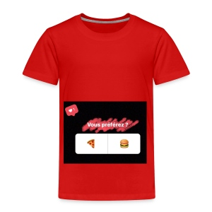 la pizza ou le hamburger choisissez votre camps PB - T-shirt Premium Enfant