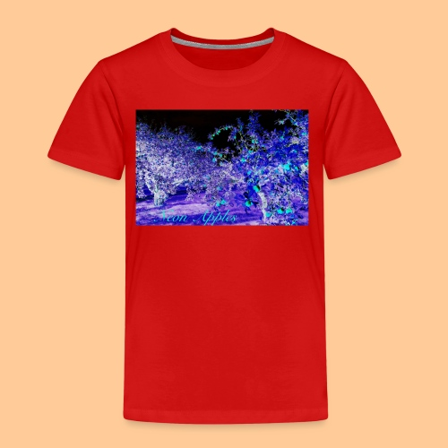 Neon Apples/purple cyan blue - Premium T-skjorte for barn