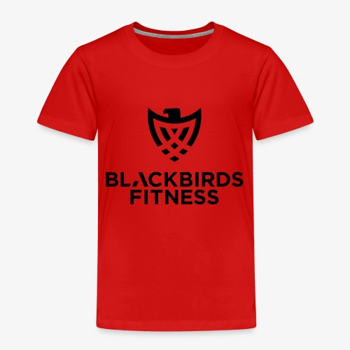 Blackbirds Fitness Logo schwarz - Kinder Premium T-Shirt