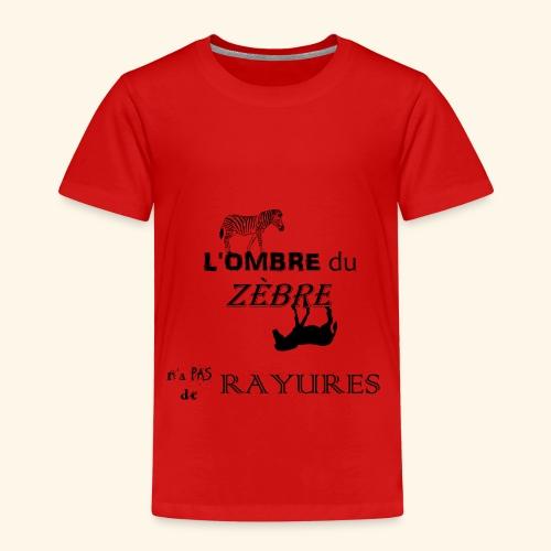 l'ombre du zèbre noir - T-shirt Premium Enfant