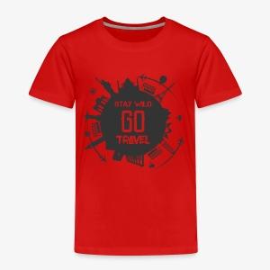 Stay Wild Go Travel - Kinderen Premium T-shirt