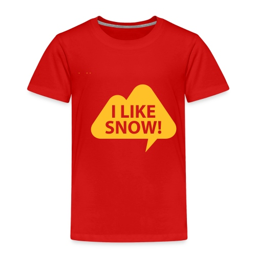Blixom Shirts I Like Snow - Kinder Premium T-Shirt