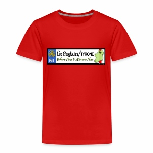 TYRONE, NORTHERN IRELAND licence plate tags decal - Kids' Premium T-Shirt