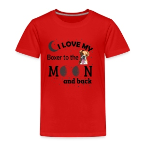 I love my Boxer to the Moon and Back - Kids' Premium T-Shirt