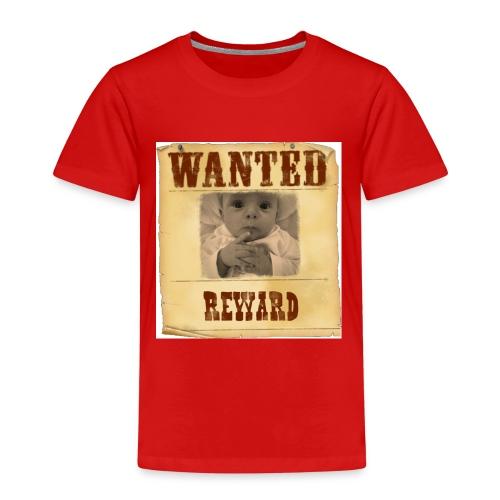 Wanted-Reward - Maglietta Premium per bambini