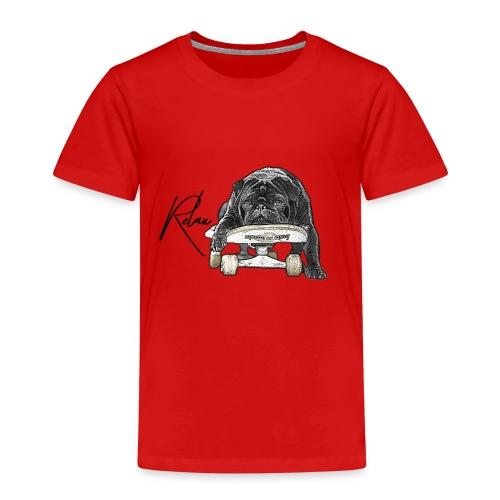 Skateboard pug Relax - Kinder Premium T-Shirt