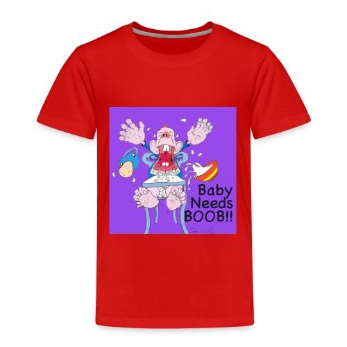 198375 4260054144999 212819122baby needs boob6 n - Kids' Premium T-Shirt