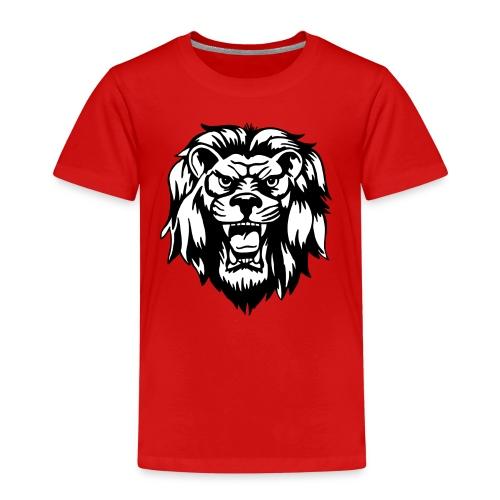 00 lion head black vector - Kids' Premium T-Shirt