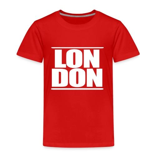 LON DON Logo White - Kids' Premium T-Shirt