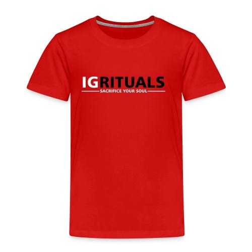ig rituals text black and white - Kids' Premium T-Shirt