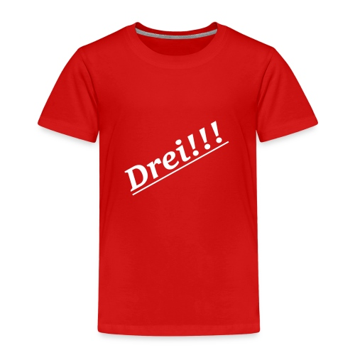 Drei!!! Lieblings Zahl! - Kinder Premium T-Shirt