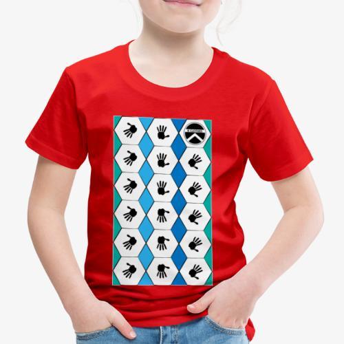  K·CLOTHES  HEXAGON ESSENCE BLUES & WHITE - Camiseta premium niño