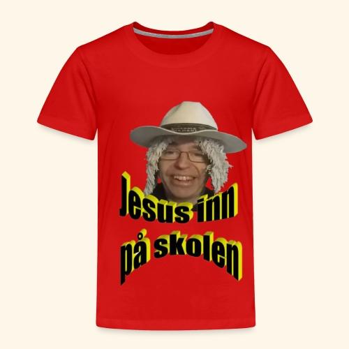 Jesus inn på skolen - Premium T-skjorte for barn