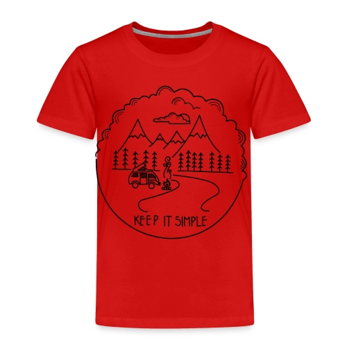 Keep it Simple Clouds Camping Trailer - Kinder Premium T-Shirt