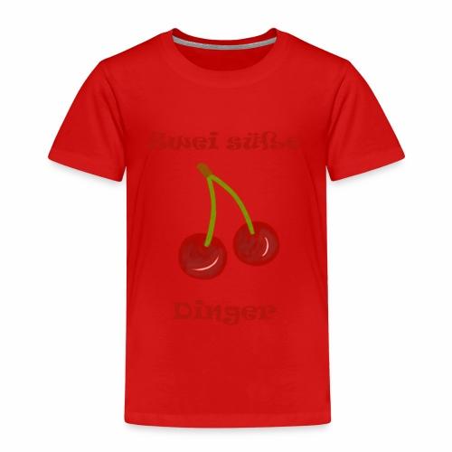 Zwei süße Dinger Kirschen Fun Geschenkidee Frauen - Kinder Premium T-Shirt