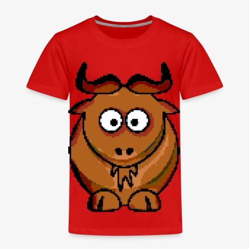 Ochse Retro Pixel Grafik Geschenk Bauernhof Kuh - Kinder Premium T-Shirt