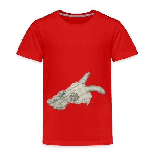 Animal skull drawing realistic design - Kids' Premium T-Shirt
