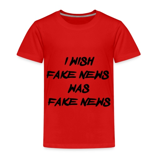 fake news black - Kinderen Premium T-shirt