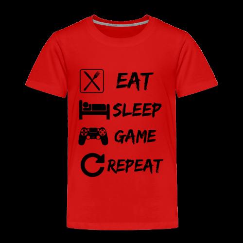 Eat_Sleep_Game_Repeat - Kids' Premium T-Shirt