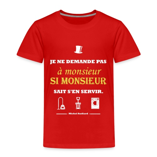 Citation Michel Audiard - T-shirt Premium Enfant