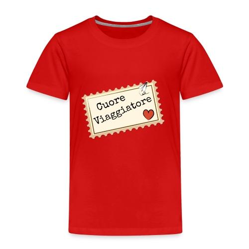 CUORE VIAGGIATORE Scritta con aeroplanino e cuore - Maglietta Premium per bambini
