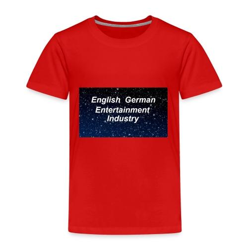 english german entertainment Industry logo - Kinder Premium T-Shirt