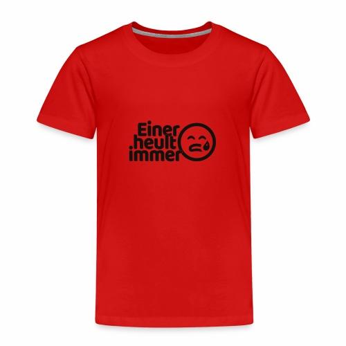 Einer heult immer (schwarz) - Kinder Premium T-Shirt