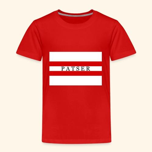 PATSER RODE GESTREEPTE - Kinderen Premium T-shirt