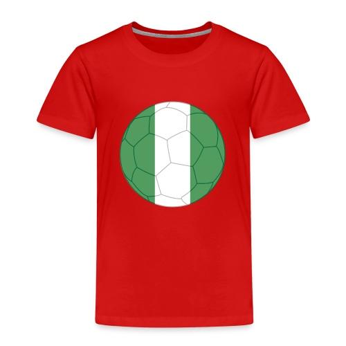 nigeria flag soccer - Kinder Premium T-Shirt