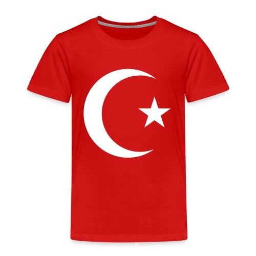 E 0013 Halmmond und Stern Türkei Flagge - Kinder Premium T-Shirt