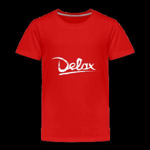 Delax White Logo - Kinderen Premium T-shirt