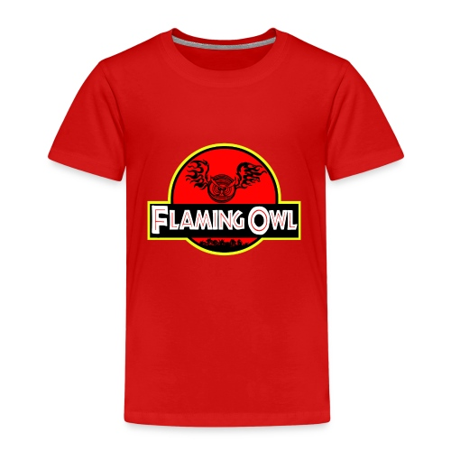 Flaming Jurassic Owl - Premium-T-shirt barn