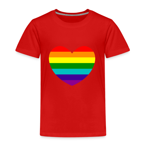 Hart in regenboog kleuren - Kinderen Premium T-shirt
