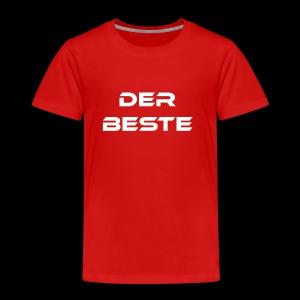 Der Beste weiss - Kinder Premium T-Shirt