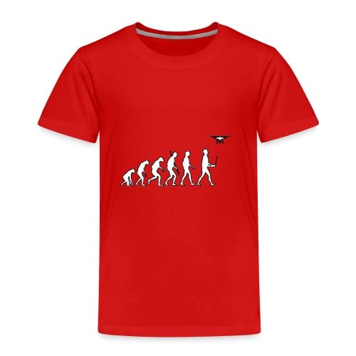 Humanity evolution drone - Kinderen Premium T-shirt