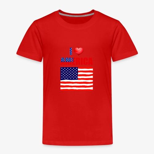 I LOVE AMERICA - Kinder Premium T-Shirt