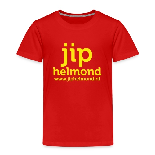 Jip helmond met webadres - Kinderen Premium T-shirt