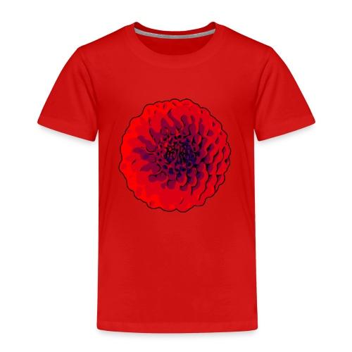 Rote Dahlien / welikeflowers - Kinder Premium T-Shirt