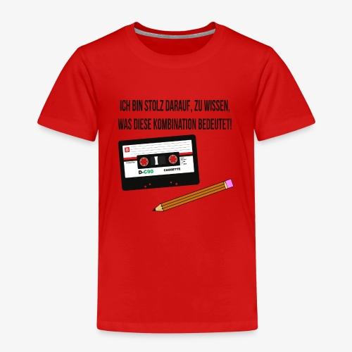 Kassette und Stift - Kindheits-Lifehack - Kinder Premium T-Shirt