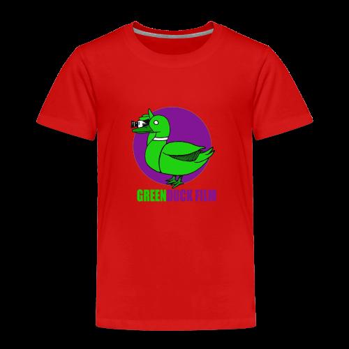 Greenduck Film Purple Sun Logo - Børne premium T-shirt