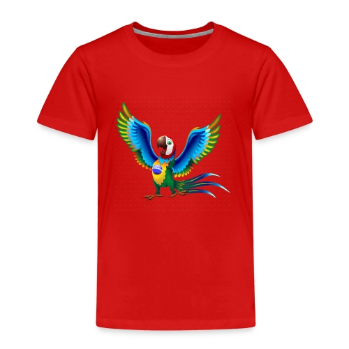 Brazil Flag Papagei - Kinder Premium T-Shirt