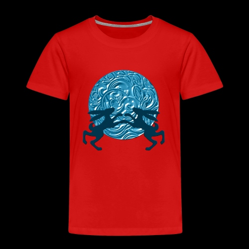 Hares : Once in a blue moon - Kids' Premium T-Shirt