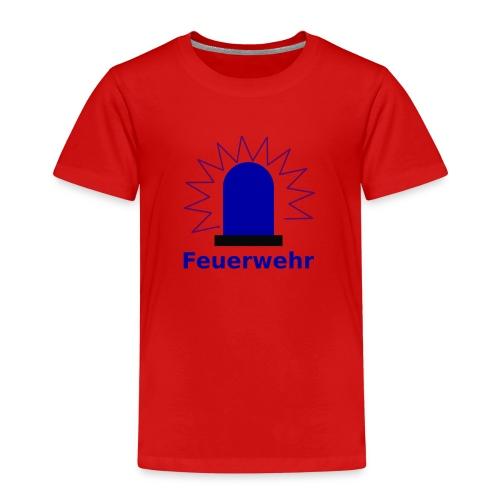 Blaulicht Feuerwehr - Kinder Premium T-Shirt
