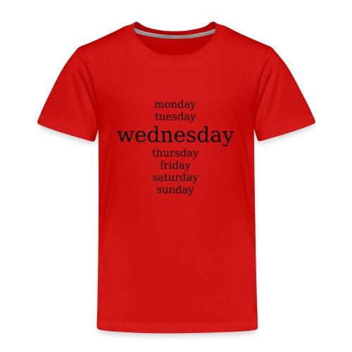 Mittwoch wochentage - Kinder Premium T-Shirt