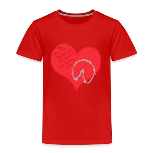 Dein Hufabdruck auf meinem Herzen - Kinder Premium T-Shirt